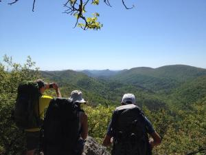 photo - members in the Caney Creek Wilderness
